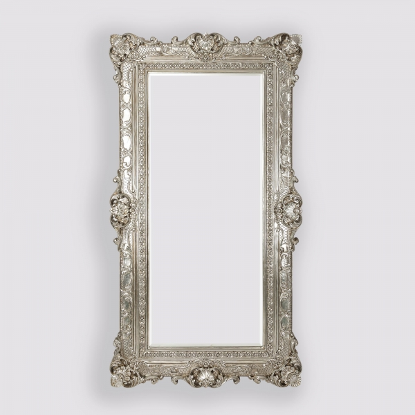Essence Silver Bevelled Floor Mirror