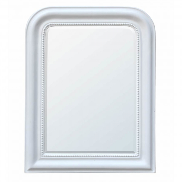 Louis Philippe White Chalk Paint Beveled Mirror