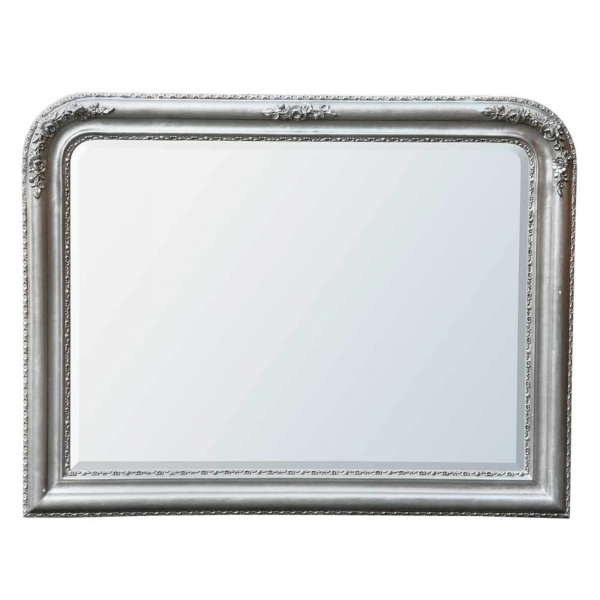 Louis Philippe Champagne Silver Gilt Leaf Overmantle Mirror
