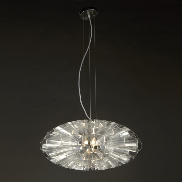 Contemporary Moon Pendant Light  - Clear