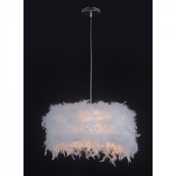Feather Pendant Light - White