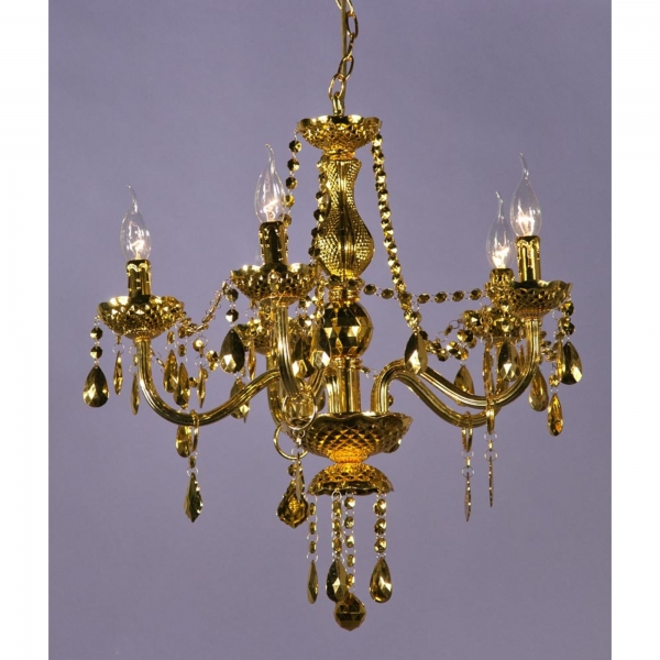 Glimmer 5 Light Chandelier - Gold