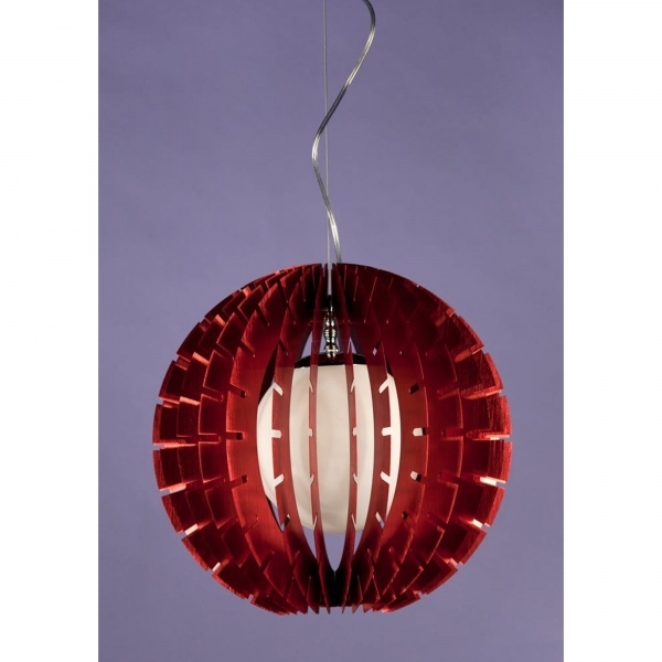 Ball Pendant Ceiling Light - Red