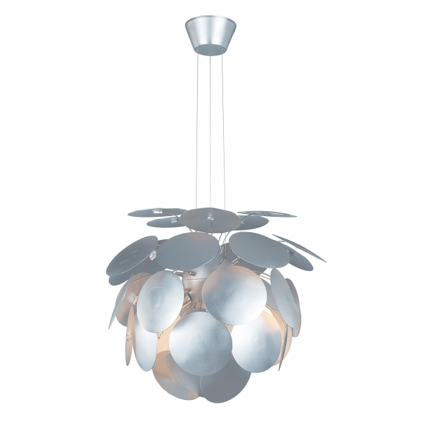 Contemporary Petal Ceiling Light - Silver