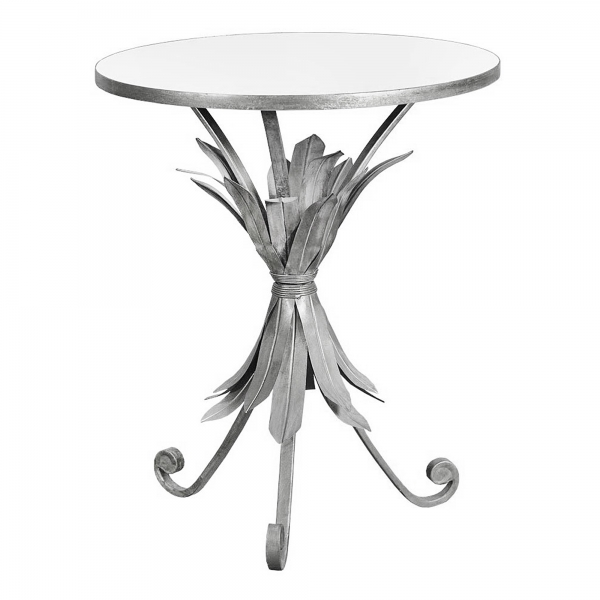 Gin Shu Metal Side Table - Silver