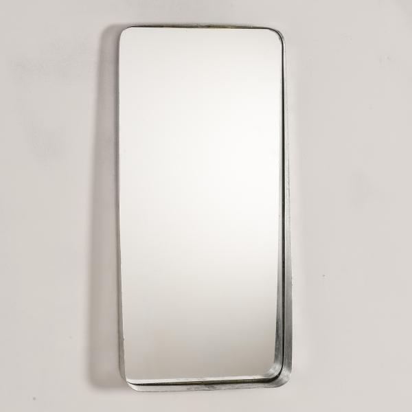 Silver Gilt Leaf Metal Mirror EXTRA PACKAGING