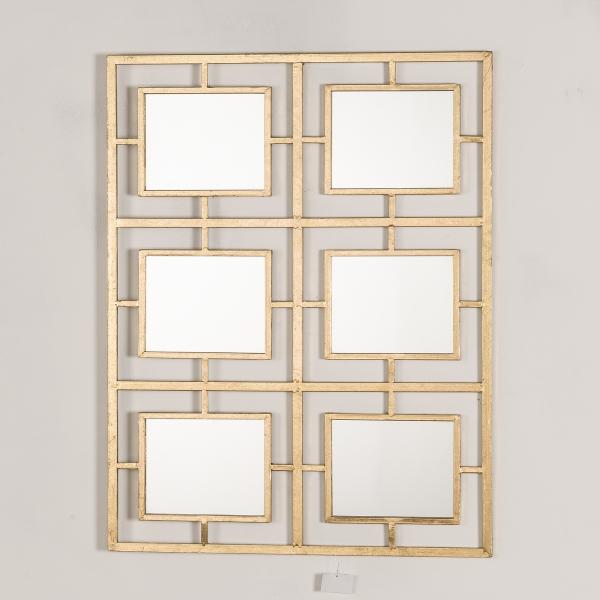 Gold Gilt Leaf Parisienne Metal Mirror EXTRA PACKAGING