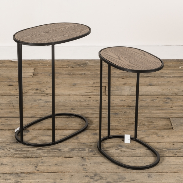 Gin Shu Metal Nest of Tables - Black - EXTRA PACKAGE