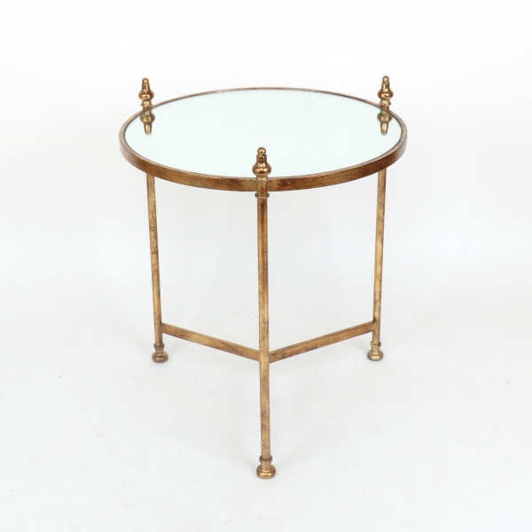 Gin Shu Metal Side Table - Gold Gilt Leaf
