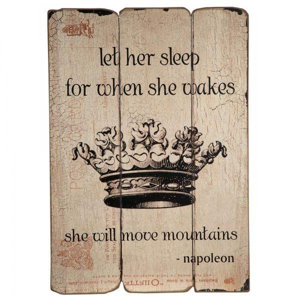 Vintage Primavera Wooden Wall Art Napolean Proverb