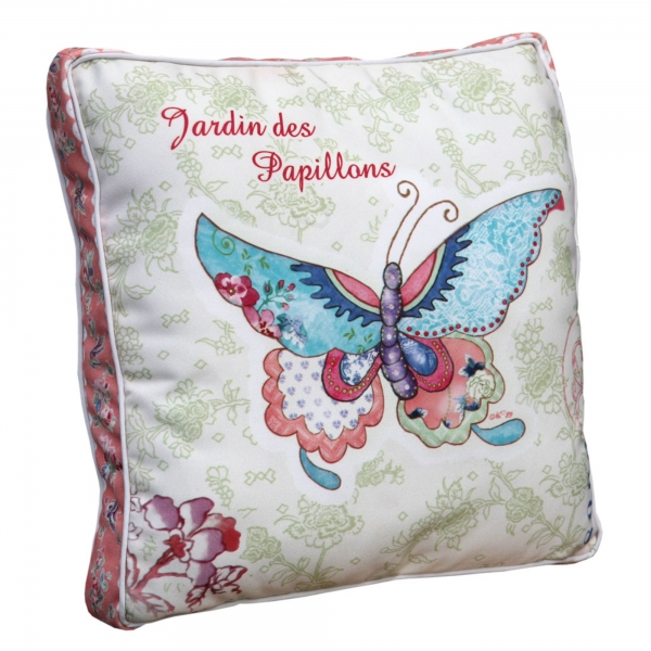 Vintage Primavera Cushion with Butterfly