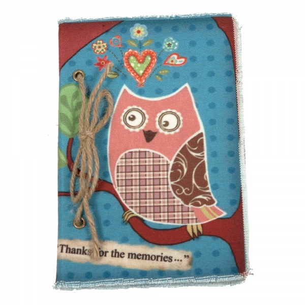 Vintage Primavera Notebook with Owl