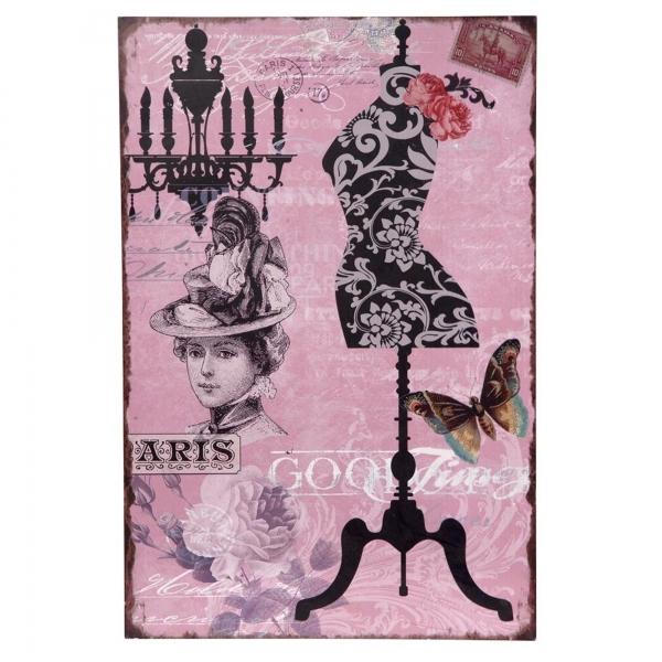 Vintage Primavera Wall Art Manequin and Chandelier