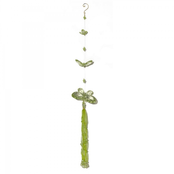 Mint Green Three Butterfly chain with Tassels