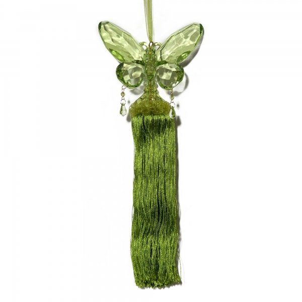 Mint Green Butteryfly with Tassel