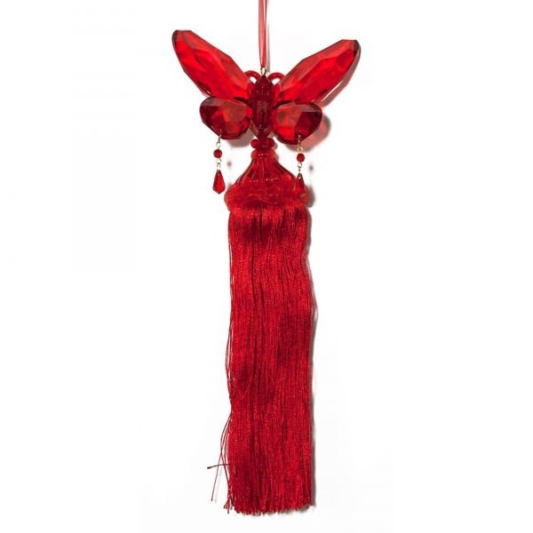 Red Butterfly with Tassels