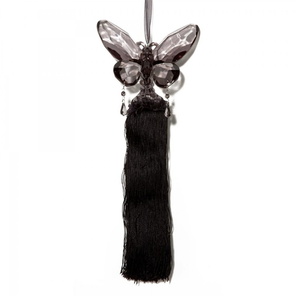 Smoked/Black Butterfly with Tassel