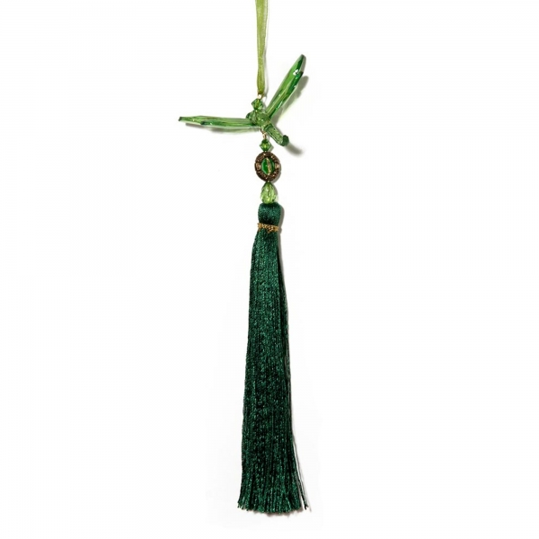 Green Dragonfly with Tassel