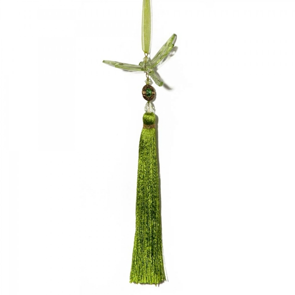 Mint Green Dragonfly with Tassel