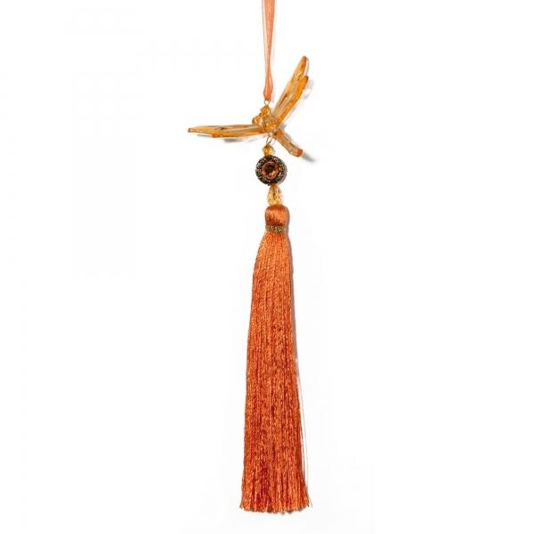 Orange Dragonfly with Tassel