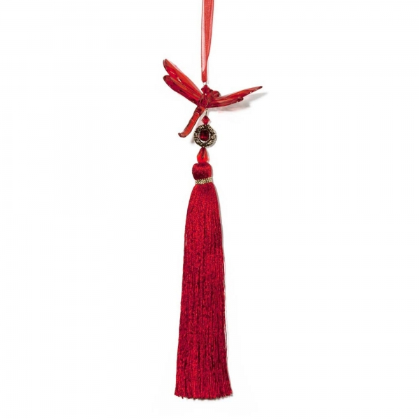 Red Dragonfly with Tassel