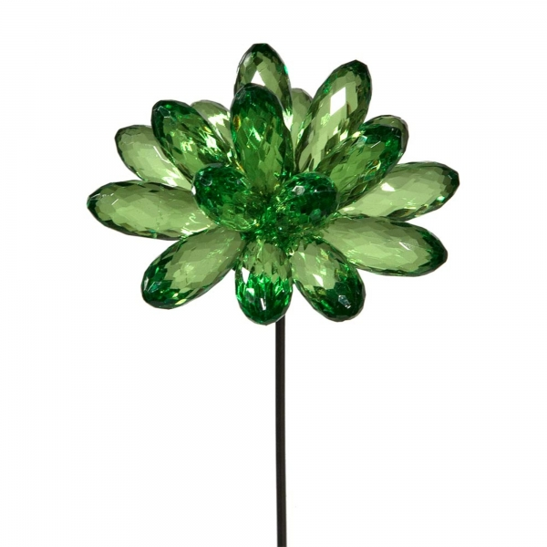 Green Flower with Heart