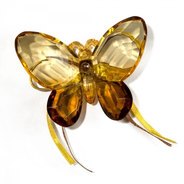 Gold/Copper Two tone Butterfly with Ribbon