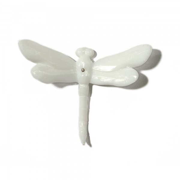 Solid White Dragonfly with Spike