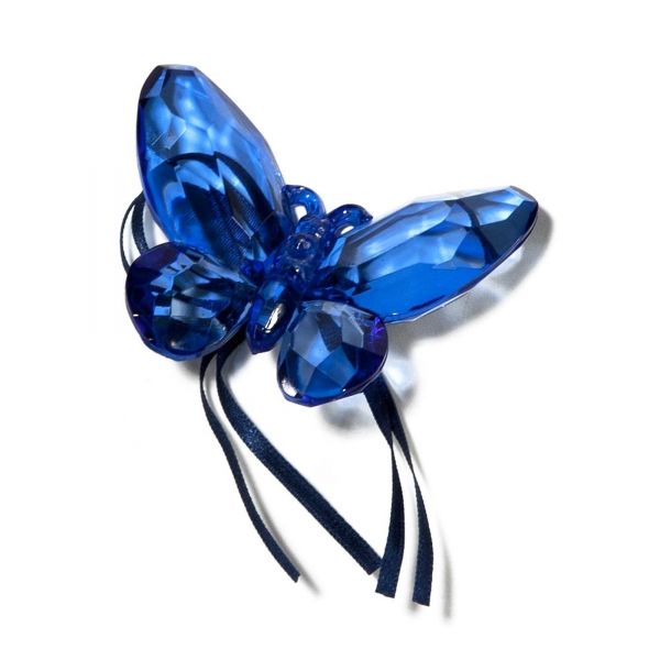 Blue Butterfly with Ribbon