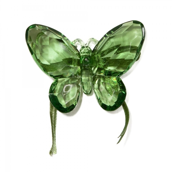 Green Butterfly with Ribbon