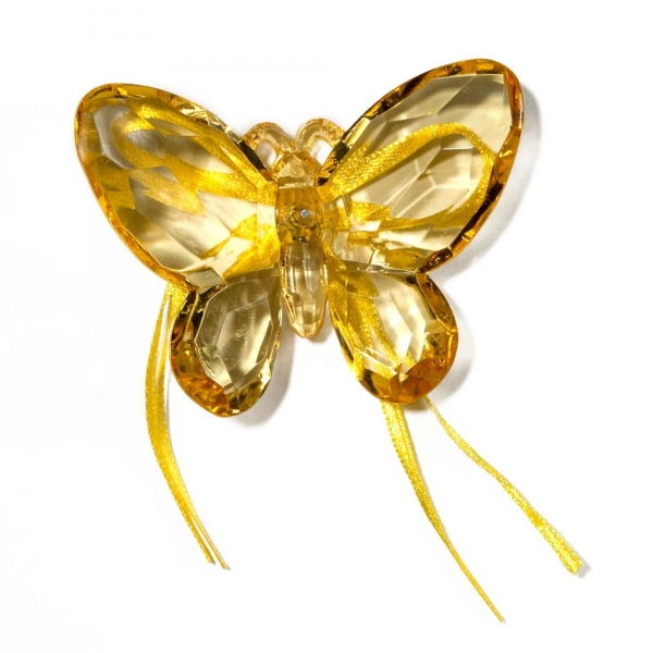 Gold Butterfly with Ribbon