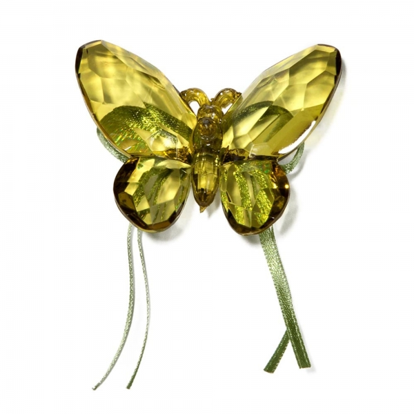 Olive Butterfly with Ribbon