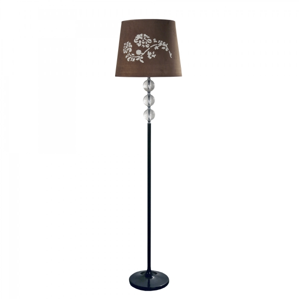 Contemporary Floor Lamp - Brown