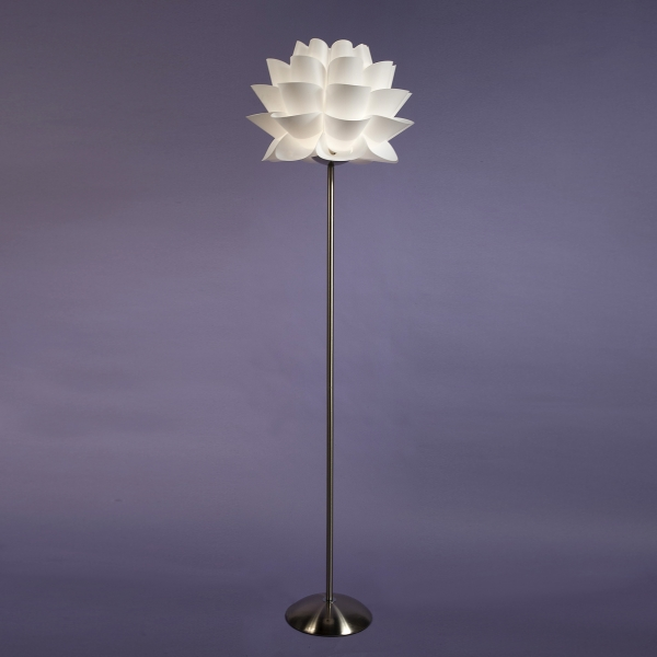 Artichoke Bloom Floor Lamp - White