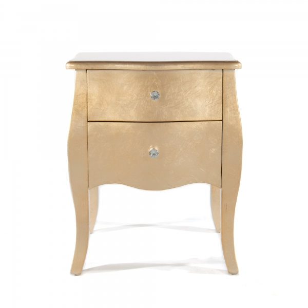 The Alchemist Bedside Table - Gold Gilt Leaf