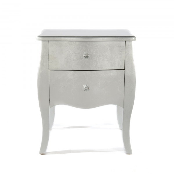 The Alchemist Bedside Table - Silver Gilt Leaf