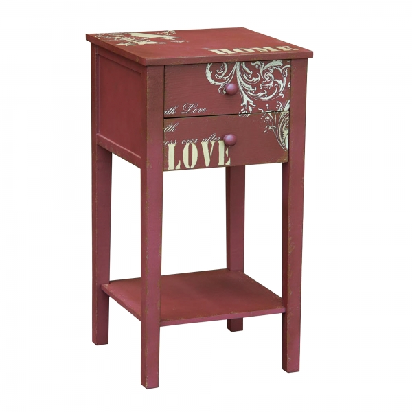 Just Mulberry Bedside Table - Pink