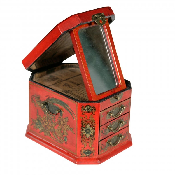 Lou Lan Jewellery Box - Red