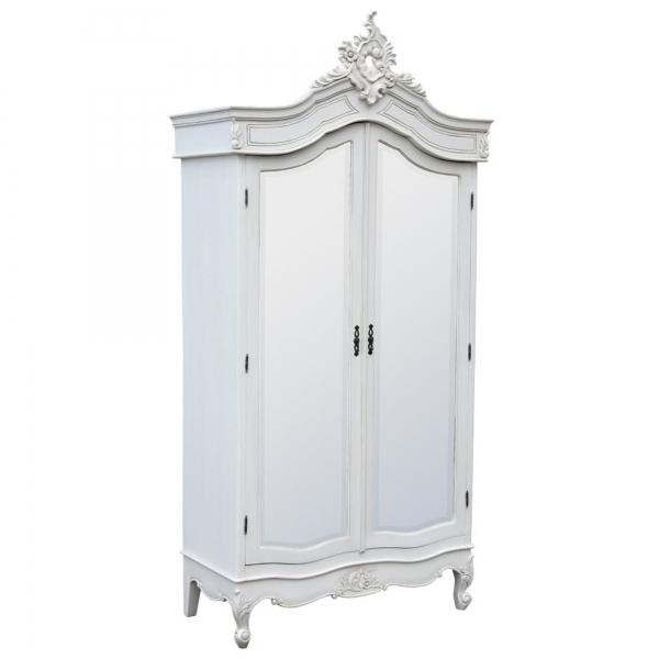 White Two Door Wardrobe