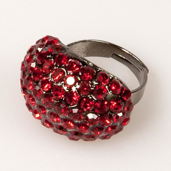 Oval Shaped Ring-Ruby