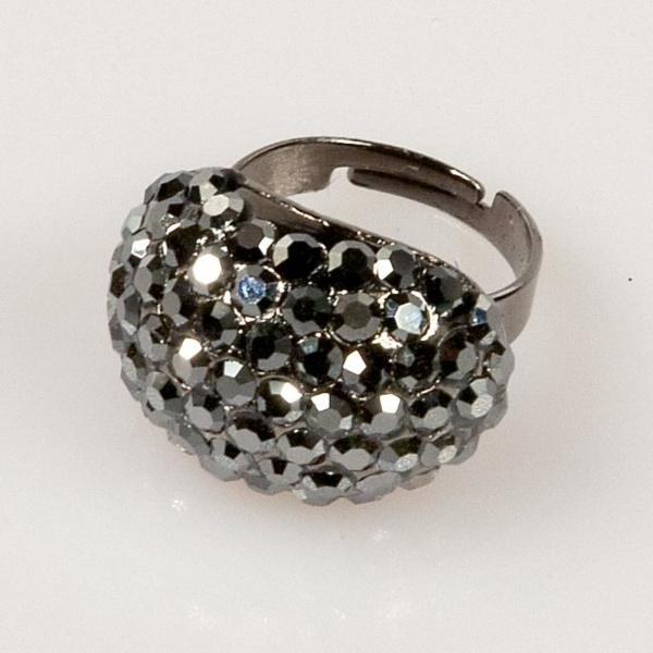 Oval Shape Ring - Black