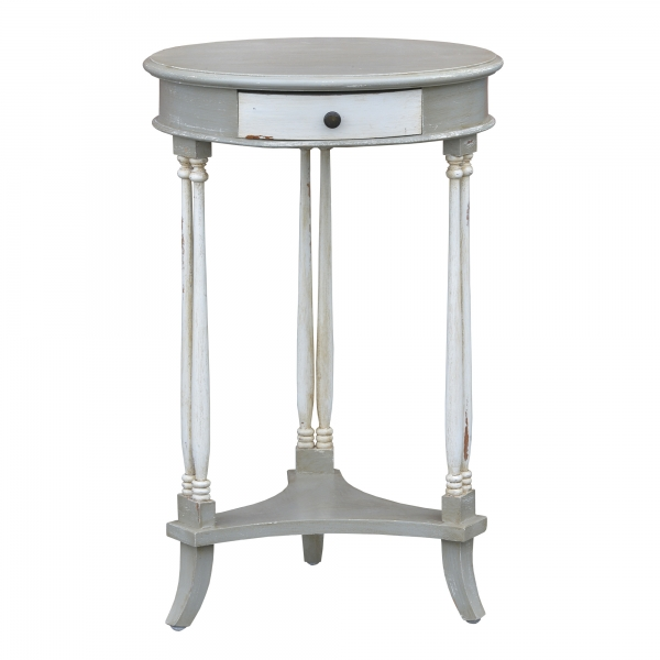 Isabella Side Table - Grey and White