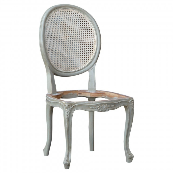 Rattan Dining Chair - Grey