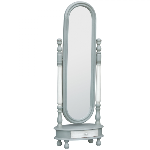 Isabella Full Length Mirror - Grey and White