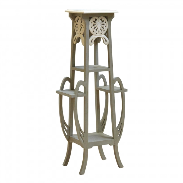 Isabella Plant Stand - Grey and White
