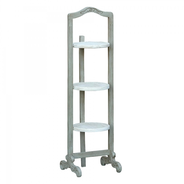 Isabella Shelving Unit - Grey and White