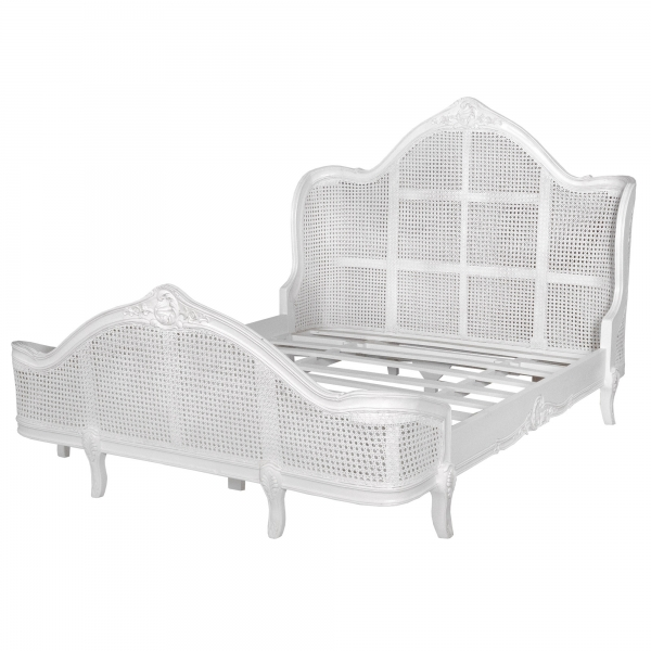 King Size Bed - Antique White