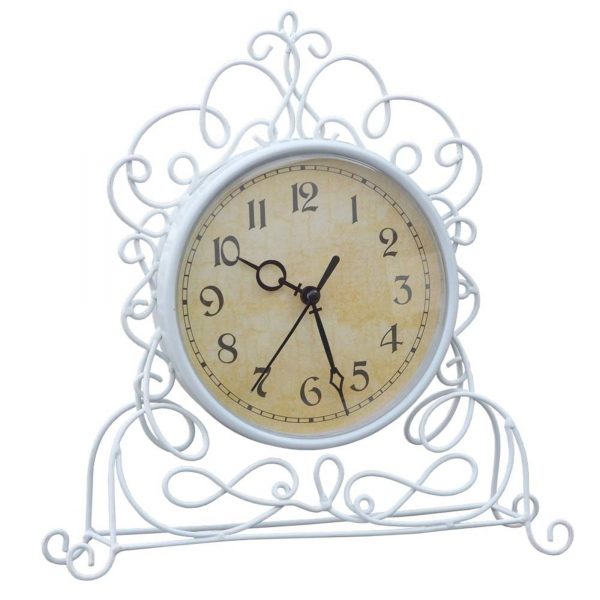 Antique White Iron Clock