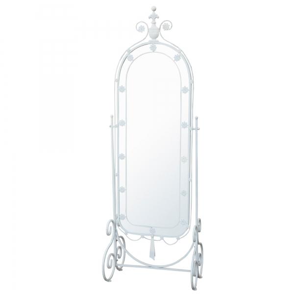 Iron Cheval Full Length Mirror - White
