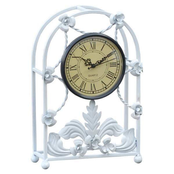 White Iron Framed Clock